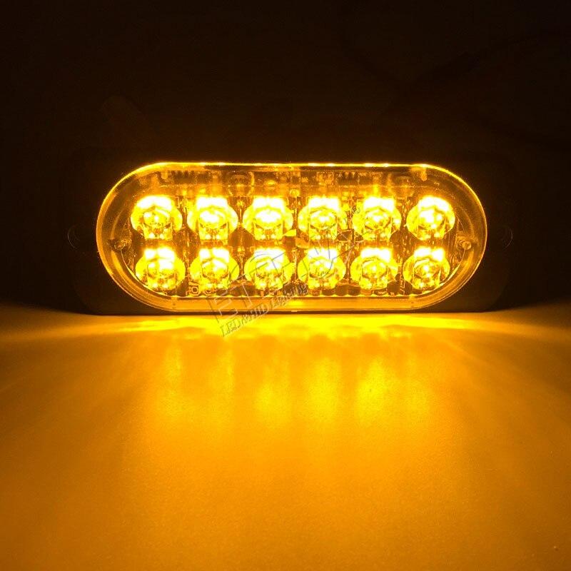 Бесплатная доставка 24 Вт мигает сигнальная лампа Высокая мощность аварийного Edge Маркер безопасности лампы для <font><b>4&#215;4</b></font> Offroad пикап самосвалы