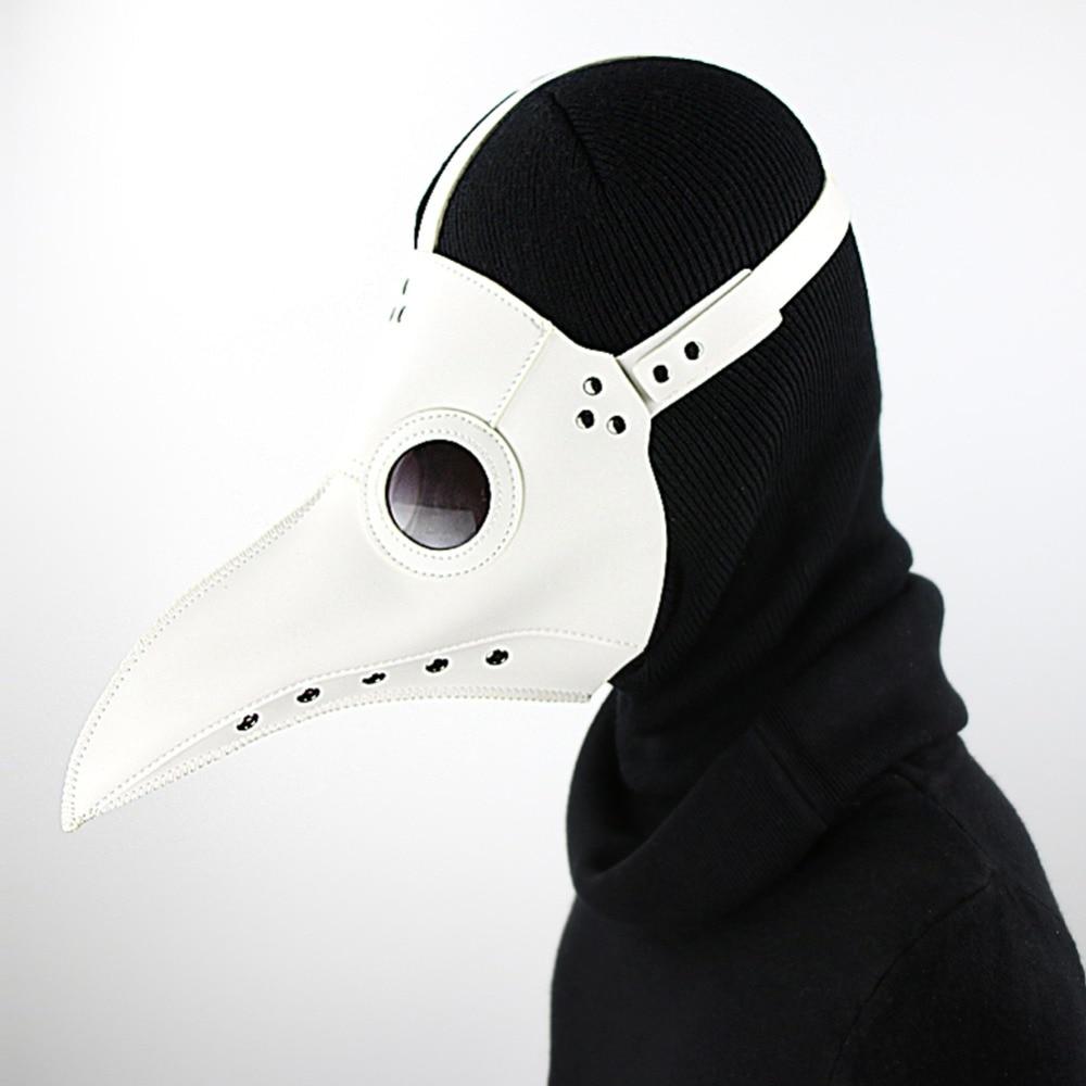 Steampunk Plague Doctor Halloween Party Masquerade White Mask