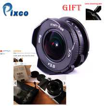 8mm F3.8 +Gift Suit For Micro Four Thirds Mount Camera Fish-eye C mount Wide Angle Fisheye Lens Focal length Fish eye Lens(China)