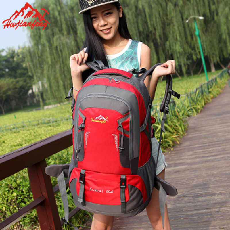 2266a301bec1 60L Waterproof Tactical Backpack Hiking Bag Cycling Climbing Rucksack  Laptop Backpack Travel Outdoor Bag Men Women Sports Bag