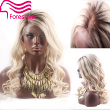7A Grade Blonde Ombre Human Hair Wigs 100% Unprocessed  Body Wave Two Tone  Lace Front Wigs  Full Lace Wigs With Bleached Knots