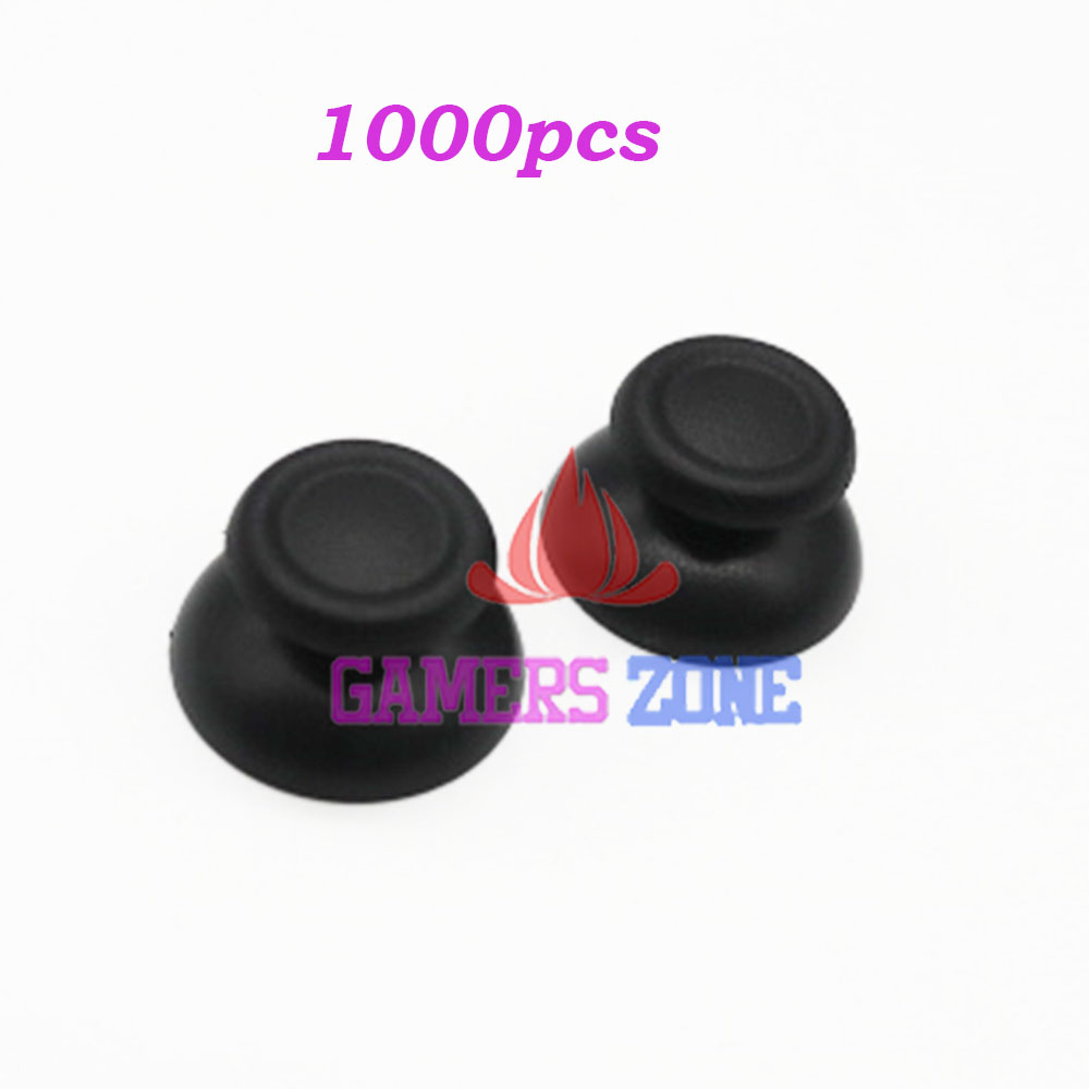 1000pcs Black Thumbsticks Joysticks Buttons Game Parts for Sony PS4 Controller Rubber Cap