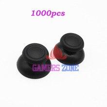 1000 قطعة الأسود Thumbsticks المقود أزرار لعبة قطع غيار سوني PS4 تحكم غطاء مطاطي