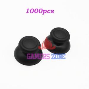Image 1 - 1000pcs Black Thumbsticks Joysticks Buttons Game Parts for Sony PS4 Controller Rubber Cap