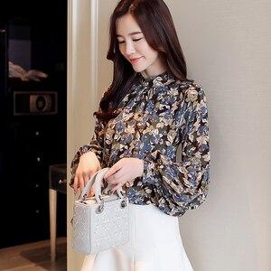 Image 3 - Moda kobieta bluzki 2020 drukuj szyfonowa bluzka koszula damskie topy i bluzki z długim rękawem koszule damskie blusas femininas 2078 50