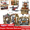 Superwit New LEPIN 07053 2566PCS DC Batman Super Heroes Batcave Children Educational Building Blocks Bricks Toy