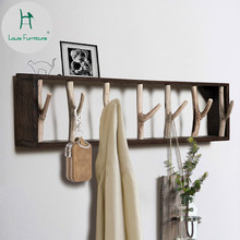 Луи моды пальто стойки ветви твердой древесины гостиной, стены творческие ключи Одежда Крючки двери крыльцо