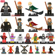 Kaygoo Single Sale Big Bang Theory Black Crow Harry Potter Small Figure Hermione Ron Voldemort Building Block Toys(China (Mainland))