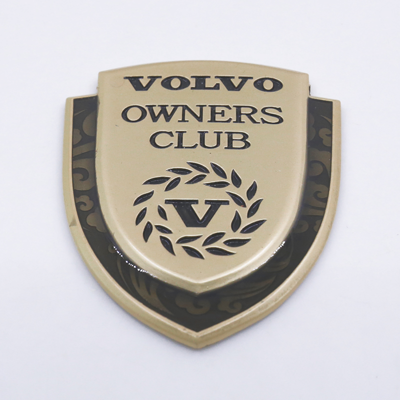 3d Stickers Metal Emblem Owners Club Badge For Volvo C30 C70