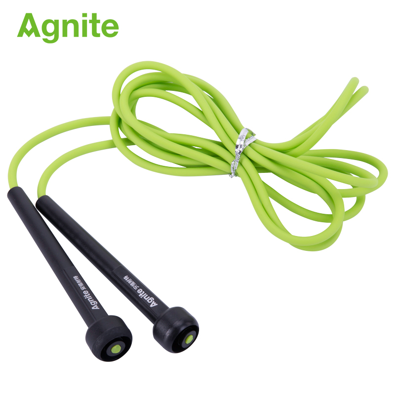 Agnite Plastic anti skid jump rope 2.8 meters length adjustable physical training beginner indoor or outdoor gym accessories skipping rope