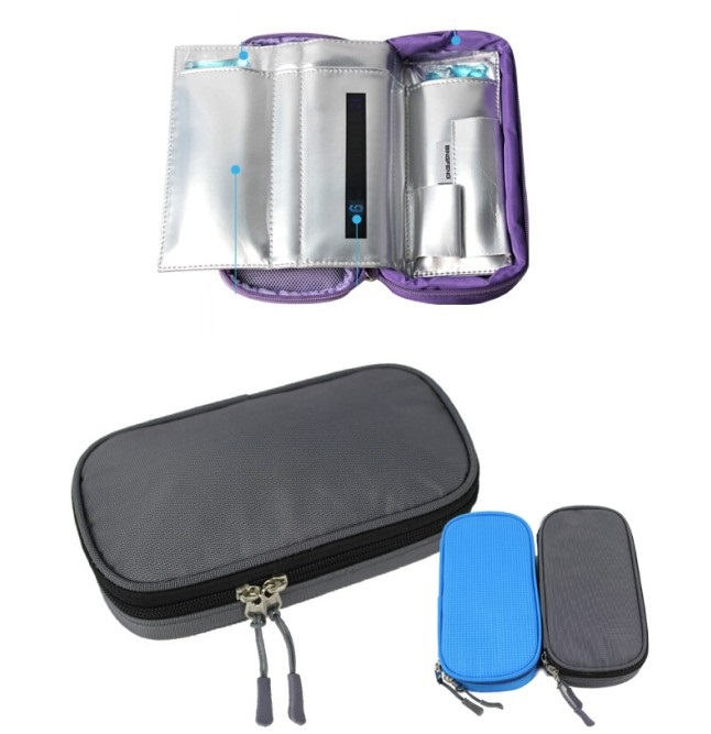 Portable insulin coolerbag 2-8 degree centigrade display ice cooler bags travel insulin packs