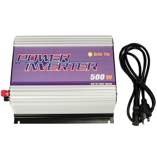 500W Grid Tie Inverter Pure Sine Wave MPPT Function 10.8V to 30V and 22V to 60V grid tie inverter for solar pv panels