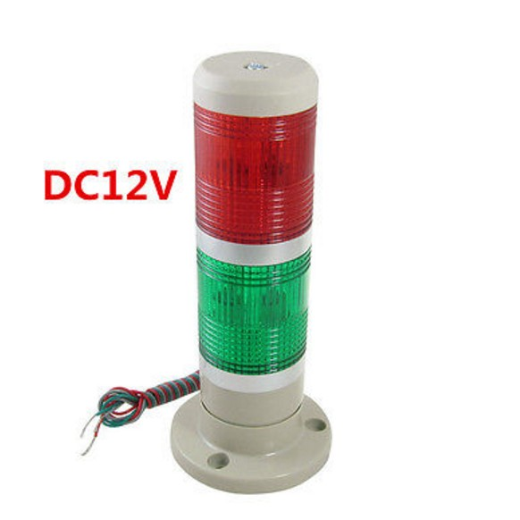 30pcs LED Steady DC12V Red Green Signal Industrial Tower Warning Lamp Stack Alarm Light dc24v tower buzzer warning red green led industrial warning light