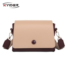 KYIDER Fashion Designer Women Bag Wide Strap Crossbody Bags for PU Leather Shoulder Ladies Handbag High Quality