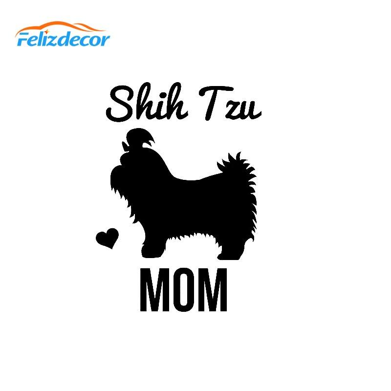 Shih Tzu Mom Sticker Vinyl Auto Window lion dog