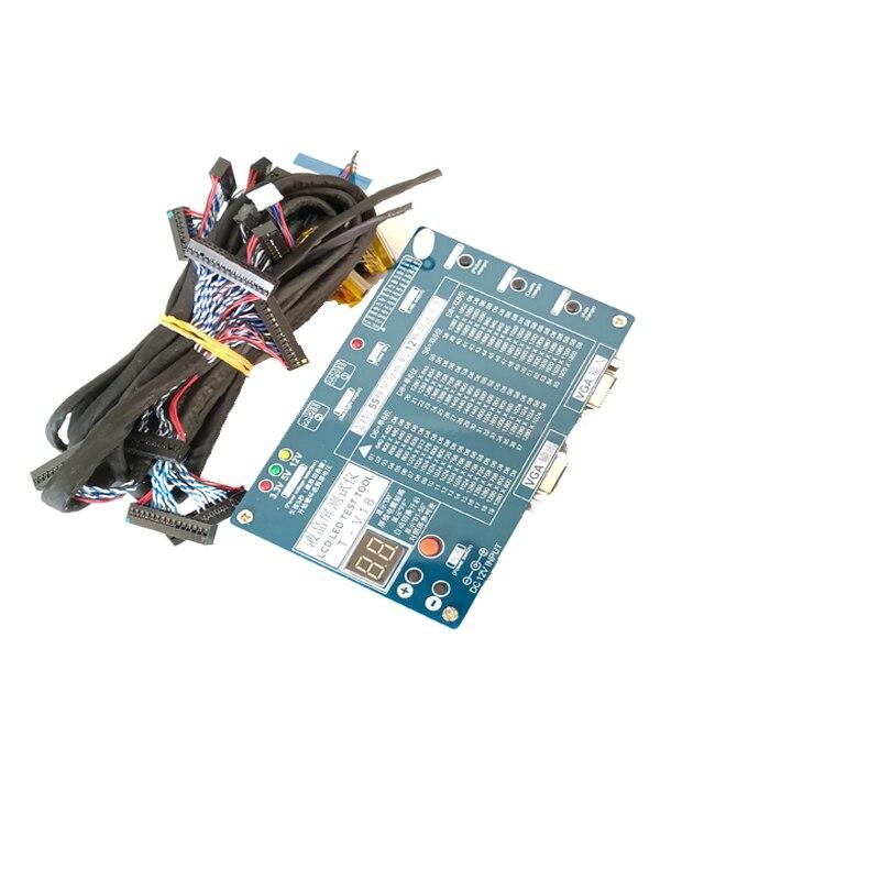 Laptop Tv Lcd Led Test Kit Alat Led Panel Tester Dukungan 7 84 Inch Lvds Antarmuka 14 Pcs Lcd Tes Layar Line Kabel Instrumen Bagian Aksesoris Aliexpress