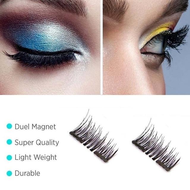 1d94deccfee Magnetic Eyelashes 3D Magnetic Best Fake Lashes Natural Look Reusable Fake  Eye Lashes Hand-Made Extension Soft False Eyelashes