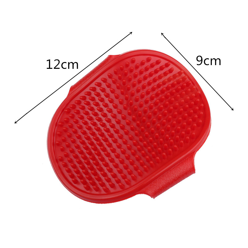 2 Color Rubber Pet Dog Grooming Brush Puppy Cleaning Brush Glove Comb For Pet Dog Hair Shower Washing