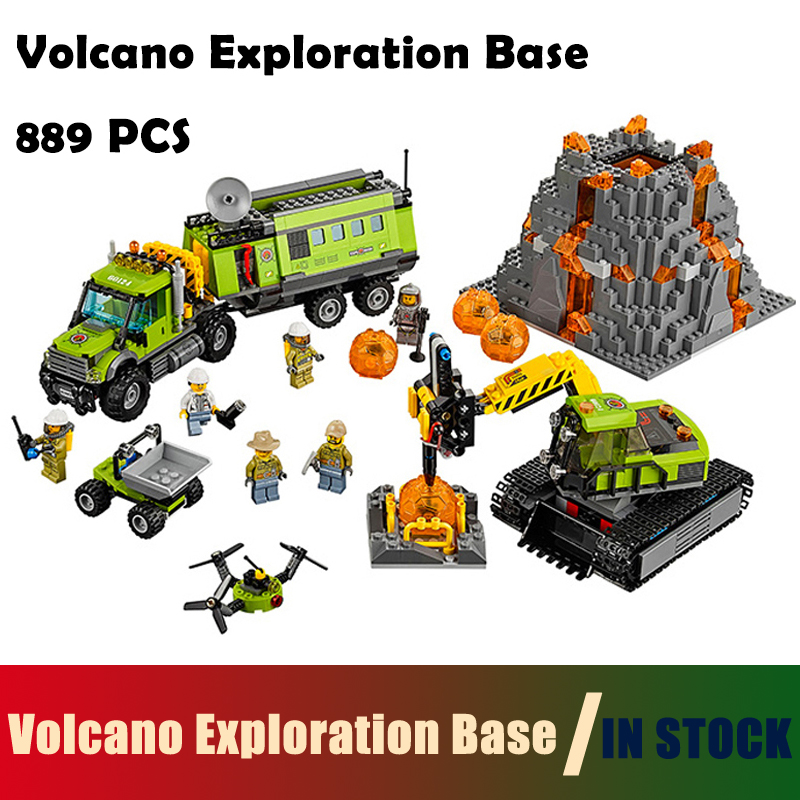 Compatible with lego City Models building toy The Volcano Exploration Base Set Building Blocks 60124 toys & hobbies for birthday lepin 02005 volcano exploration base building bricks toys for children game model car gift compatible with decool 60124