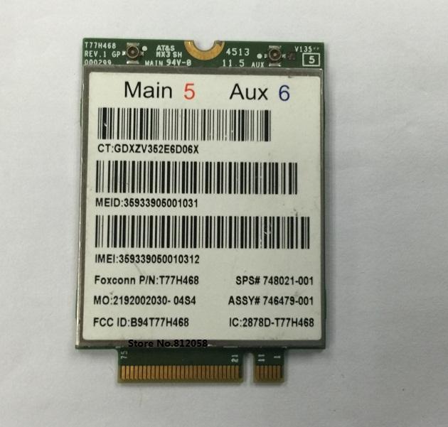 Original Nuevo 4G Módulo T77H468 MINI PCI-E Tarjeta Inalámbrica Wlan 4G SPS 748021-001