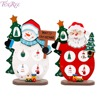FENGRISE Christmas Tree Ornaments Wooden Santa Claus Christmas Decoration For Home DIY Craft New Year Gift