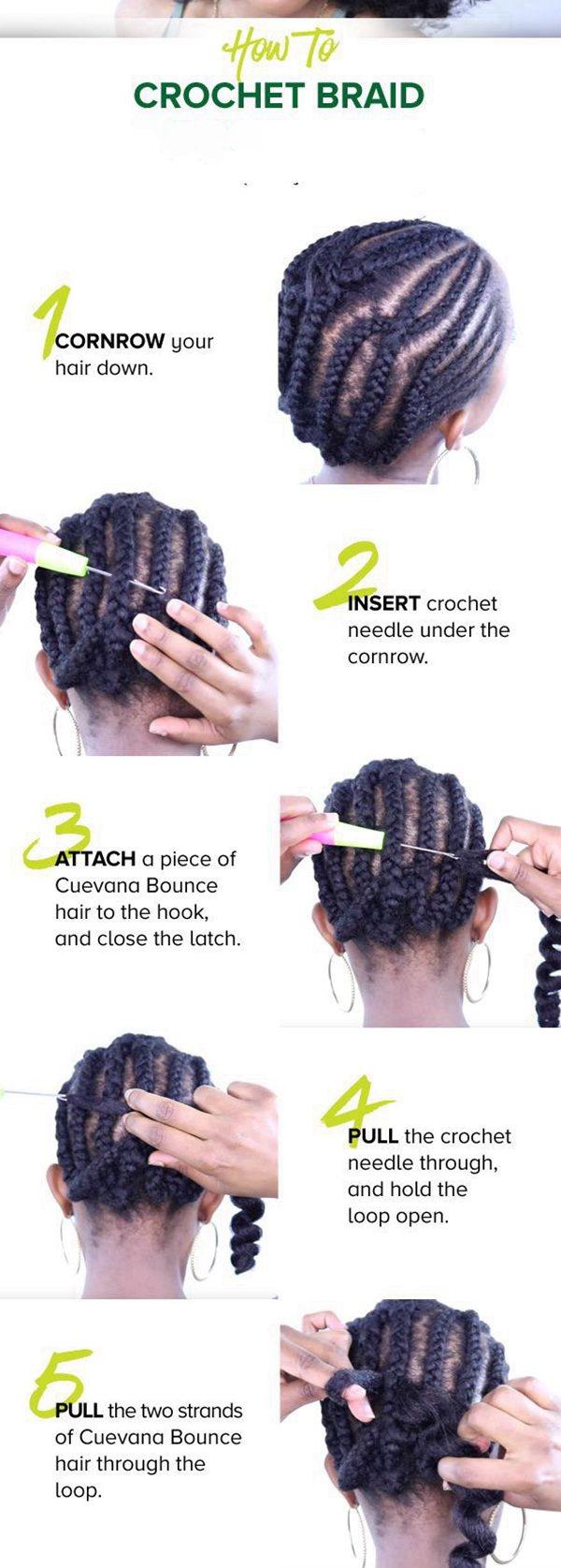 How to apply crochet hair