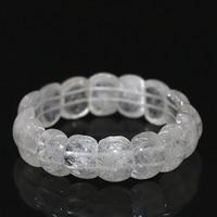 Elegant White Natural Quartz Crystal Bracelet For Women 13 18mm Rectangle Beads Wholesale Retail Chain Jewelry