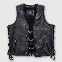 Genuine Leather Mens Vest 2019 Summer Autumn Cow Leather Male Wasitcoat Plus Size Motorcycle Sleeveless Jacket New Solid Vests