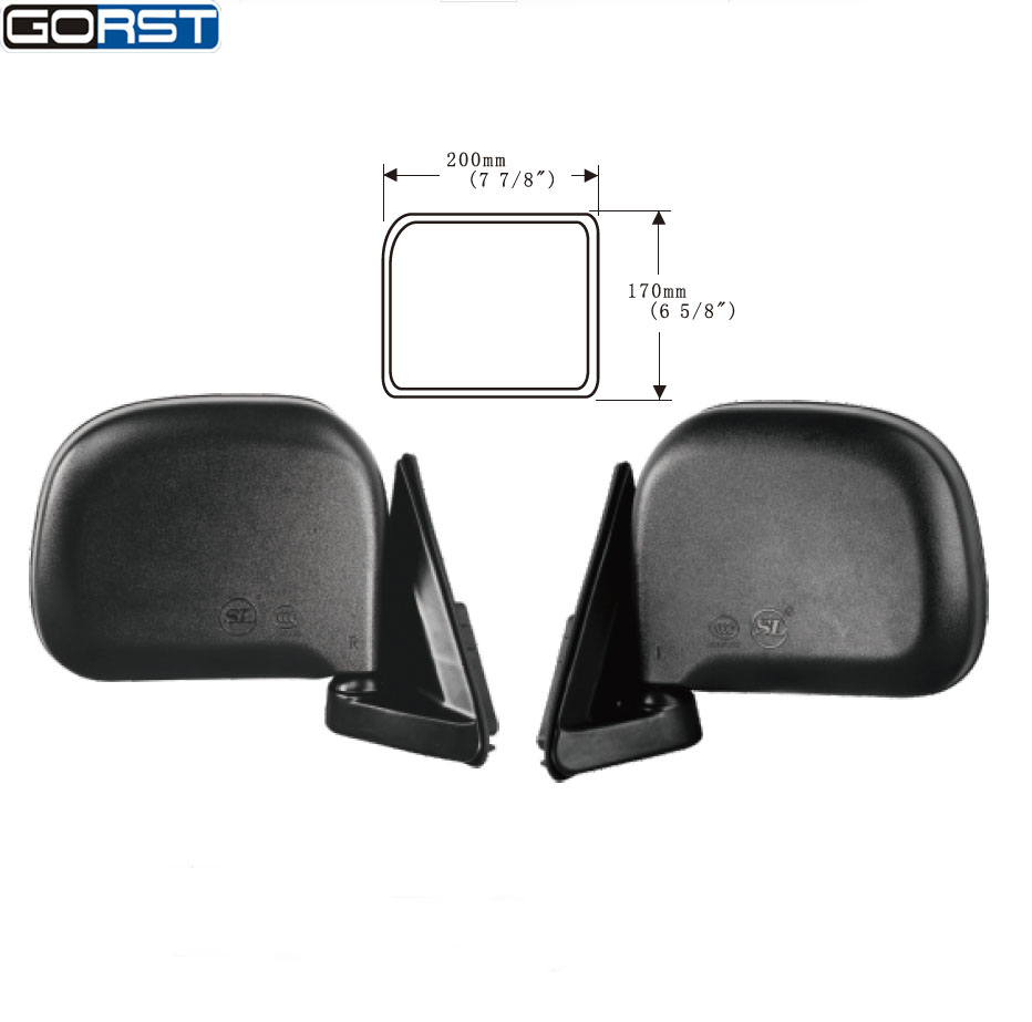 Car automobile accessories car styling reflector rearview mirror side mirror exterior assembly for toyota