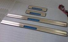 Для Nissan QASHQAI 2008 2009 2010 2011 2012 LED Добро Пожаловать Педаль Скребок Щиток Швеллера стайлинга автомобилей авто аксессуары