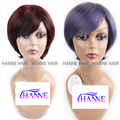 New Arrival Mulit-Color Burgundy Or Purple Straight Short Wigs for Women Fashion Heat Resistance Synthetic Wigs for Black Women