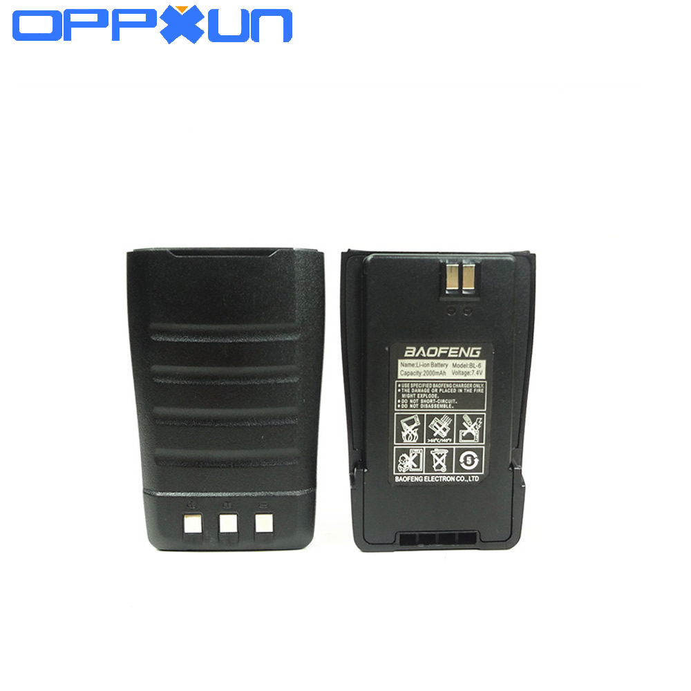 For Original Baofeng UV-6 UV6D Battery BL-6 2000mah Walk Talkie Parts 7.4V For Dual Band Pofung BF-UV6 UV-6D Two Way Radio