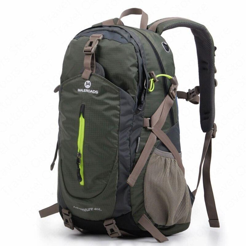Sacs à dos d'escalade en plein air Maleroads sac de Camping étanche 40L sacs à dos de randonnée avec housse de pluie sac de Sport étanche