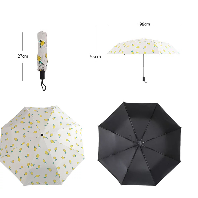 7664f2b30bb7 US $9.71 29% OFF|Cute lemon Umbrella Rain women folding Sunny and Rainy  windproof Travel Umbrellas-in Umbrellas from Home & Garden on  Aliexpress.com | ...