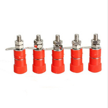 Home Useful 5 Pairs Amplifier Terminal Binding Post 4mm Banana Plug Jack Mount Connector