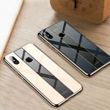 BONVAN Phone Case for Huawei P20 Lite Shockproof Plating TPU+PC Glass Mirror Cover Pro Funda P 20