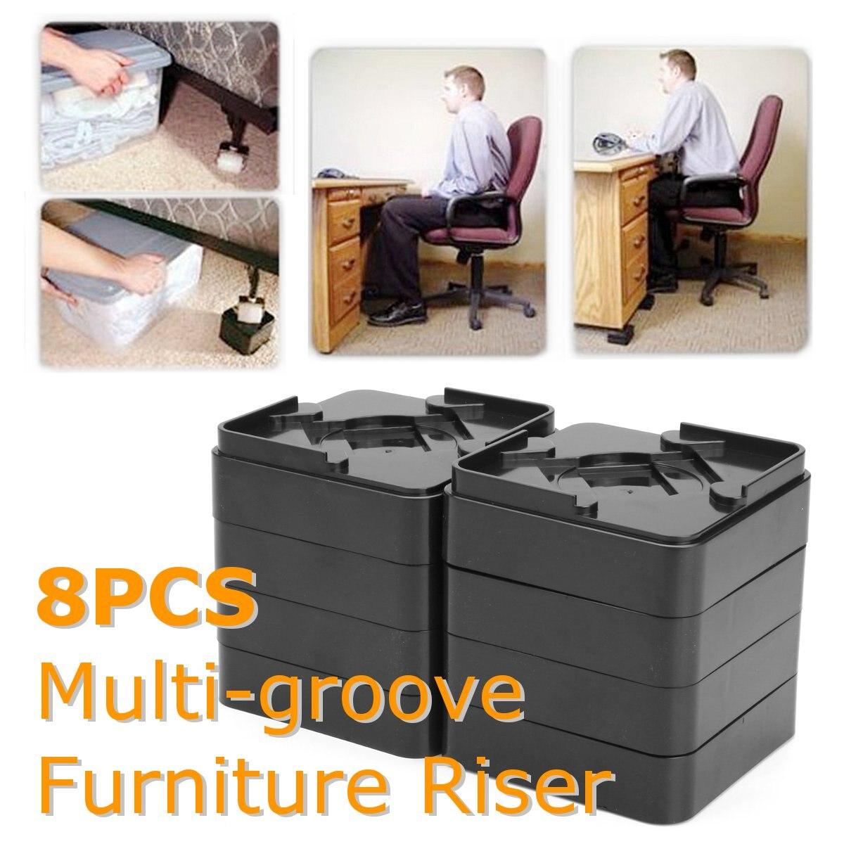 Pcs Bed Risers Lift Table Furniture Homewares Underbed Storage - Furniture risers for desk