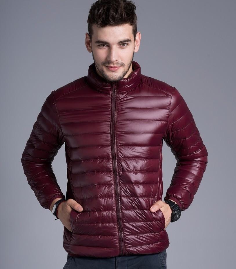 Men casual warm Jackets solid thin breathable Winter Jacket Mens outwear Coat Lightweight parka Plus size XXXL hombre jaqueta 7