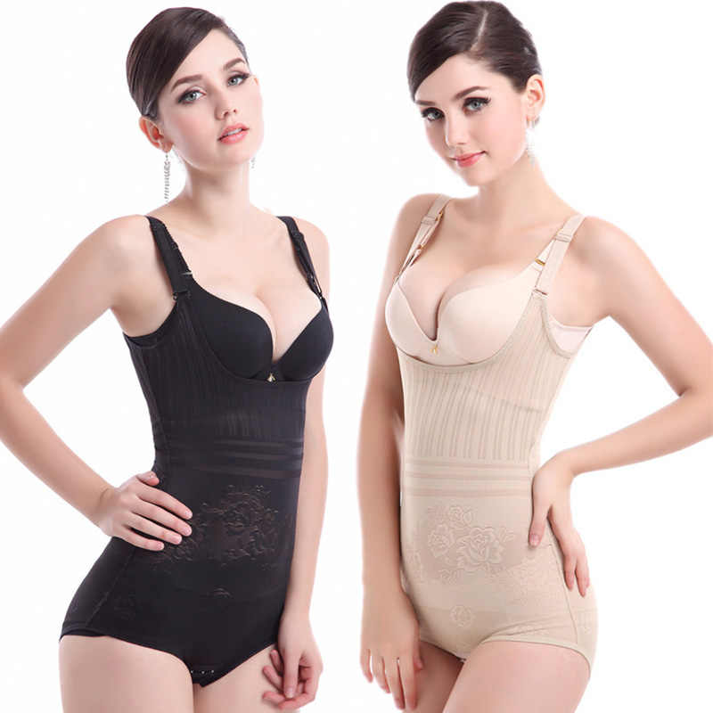 00b610f5b1 ... Women Sexy Shapers Slimming Bodysuits Hot body Waist Trainer Tummy  Control Underwear Shapewear Firmer Postpartum Recovery ...