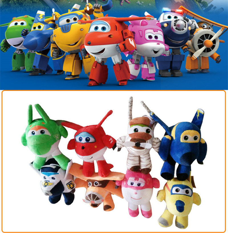 цена Wholesale price 8 styles Super Wings plush doll toys Cartoon Character 20cm Plush Dolls Stuffed Toys for gifts онлайн в 2017 году