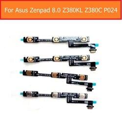 """Переключатель включения/выключения питания шлейф для Asus Zenpad Z380KL Z380C P024 8,0 """"Объем шлейф вверх/низкая сбоку ключ Тихая управления"""