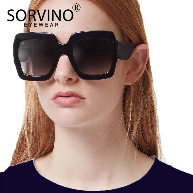 63d3b3bd63 SORVINO Retro Designer Men Oversized Bee Square Sunglasses Women Luxury  Brand 2018 Fashion Crystal Big Sun Glasses Shades SP232