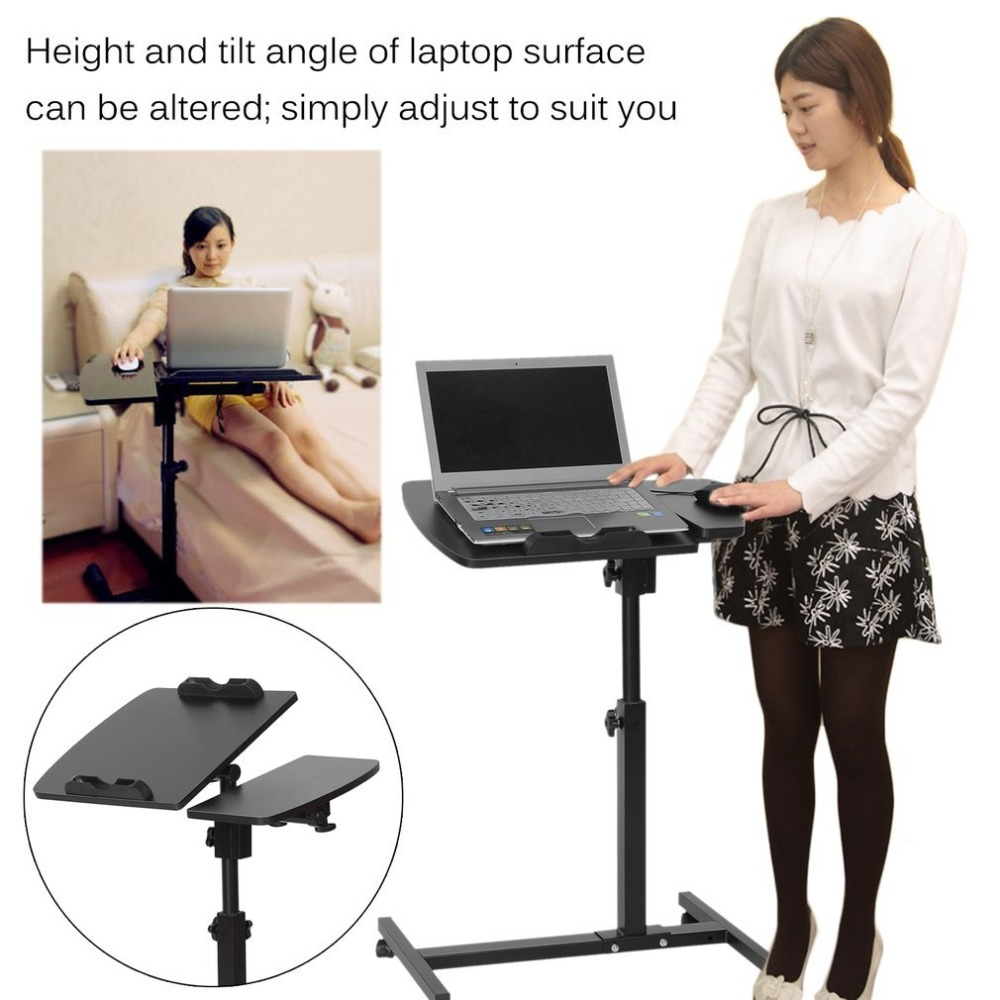 Adjustable Portable Laptop Table Lap Sofa Bed Tray 360 Degrees Roating Notebook Desk Multi Functional Ergonomic Computer Stand multi functional ergonomic mobile laptop table stand for bed portable sofa laptop table foldable notebook desk
