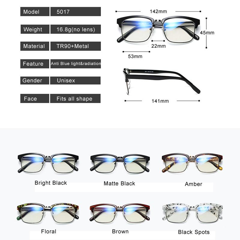 VCKA Computerbrillen Ultra light Brilmontuur Tr90 brillen blu-raylens - Kledingaccessoires - Foto 4