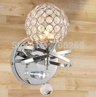 Modern Brief Fashion Crystal Wall Lamp Bed Lighting Rustic Bedside Wall Lamp
