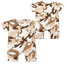 Summer Camouflage Rompers Cool Baby Boy Girl Rompers Army Style Short Sleeve Jumpsuit Newborn Onesie Conjunto Infantil Menino(China)