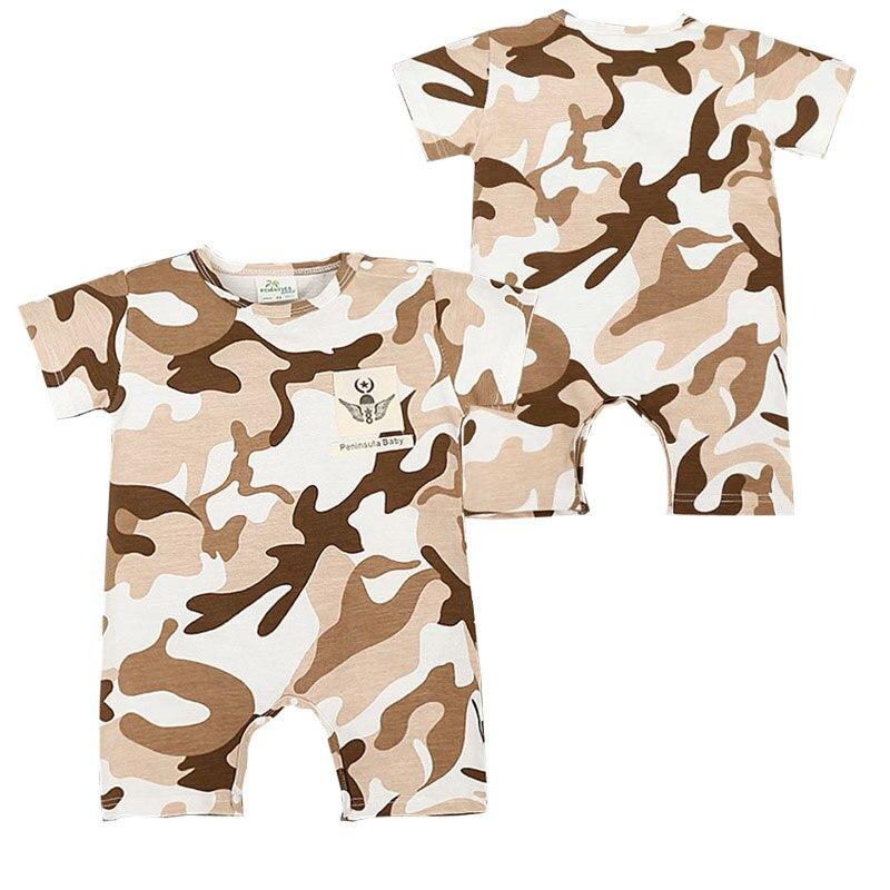 Summer Camouflage Rompers Cool Baby Boy Girl Rompers Army Style Short Sleeve Jumpsuit Newborn Onesie Conjunto Infantil Menino