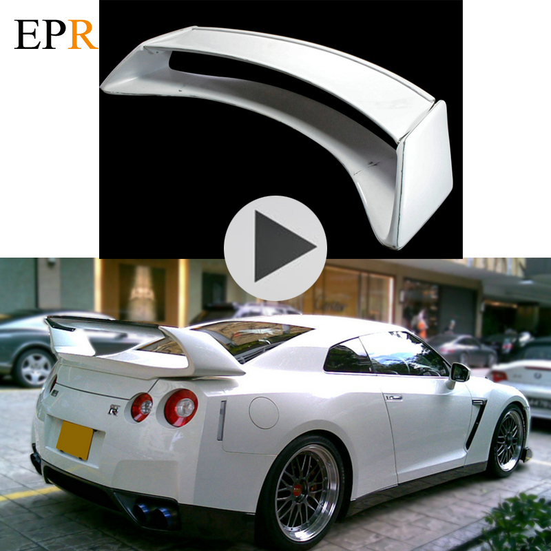 Car Accessories <font><b>R35</b></font> <font><b>GTR</b></font> <font><b>Rear</b></font> <font><b>Spoiler</b></font> FRP Fiber Glass Car Styling Body Kit <font><b>GTR</b></font> Trunk Wing For Nissan <font><b>R35</b></font> <font><b>GTR</b></font> <font><b>Rear</b></font> Wing Amuse Part image