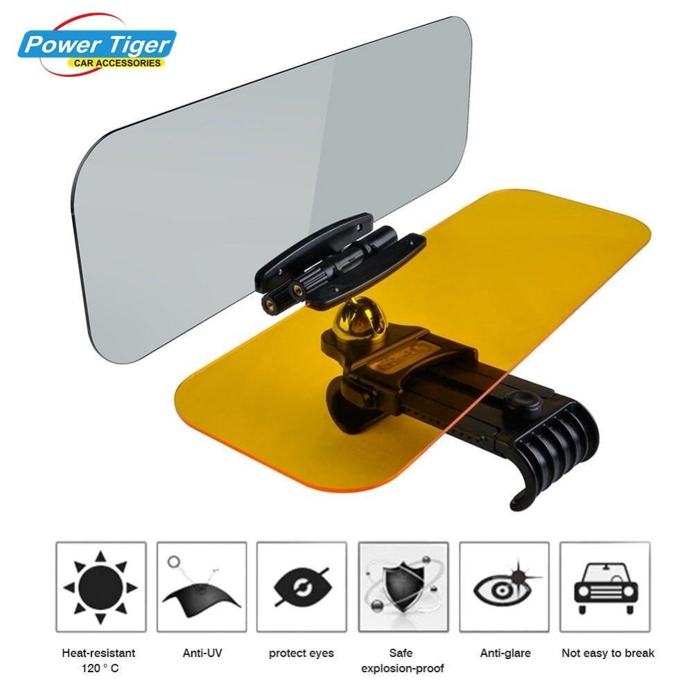 2018 New Car Sun Visor HD Car Anti-Glare Dazzling Goggle Day Night Vision Driving Mirror UV Fold Flip Down HD Clear View Visor