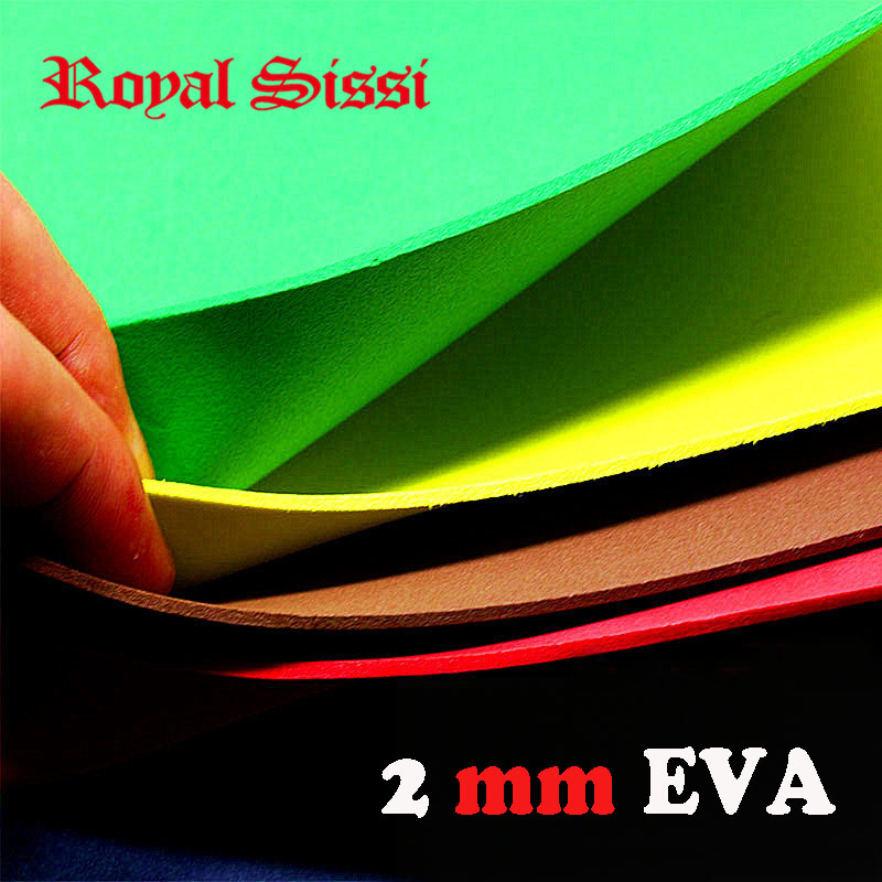 Royal Sissi 10colors assortment Fly Tying Square foam Paper high dense 2mm EVA Foam Sheet Bugs Cricket body fly tying materials
